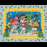 """Набор для вышивания """"Веселые снеговики"""" """"Panna"""""""