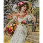 """Набор для вышивания """"Девушка с корзиной цветов"""" """"Panna"""""""