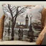 """Набор для вышивания Подушка """"Лондонский дождь"""" """"Panna"""""""