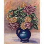 """Набор для вышивания бисером """"Розы в синей вазе"""" """"Panna"""""""