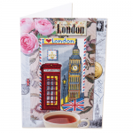 """Набор для вышивания Открытка """"Путешествия. Лондон"""" """"Panna"""""""