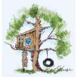 """Набор для вышивания """"Домик на дереве"""" """"Panna"""""""