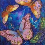 """Набор для вышивания бисером """"Бабочки в ночных цветах"""" """"Panna"""""""