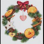 """Набор для вышивания """"Венок с апельсином и корицей"""" """"Panna"""""""