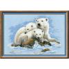 """Набор для вышивания """"Белые медведи"""" """"Риолис"""""""
