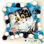 """Набор для вышивания Подушка """"Котёнок"""" 30х30см """"Риолис"""""""