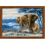 """Набор для вышивания """"Слоны в саванне"""" """"Риолис"""""""