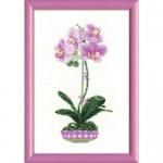 """Набор для вышивания """"Сиреневая орхидея"""" """"Риолис"""""""