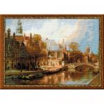 """Набор для вышивания """"Амстердам. Старая церковь и Церковь Св. Николая Чудотворца"""" """"Риолис"""""""