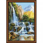 """Набор для вышивания """"Пейзаж с водопадом"""" """"Риолис"""""""