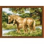 """Набор для вышивания """"Лошадь с жеребенком"""" """"Риолис"""""""