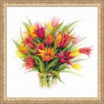 """Набор для вышивания """"Тюльпаны в вазе"""" """"Риолис"""""""