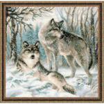 """Набор для вышивания """"Волчья пара"""" """"Риолис"""""""
