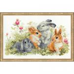 """Набор для вышивания """"Забавные крольчата"""" """"Риолис"""""""