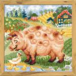 """Набор для вышивания """"Хуторок. Свинка"""" """"Риолис"""""""
