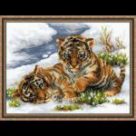 """Набор для вышивания """"Тигрята в снегу"""" """"Риолис"""""""