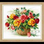 """Набор для вышивания """"Корзина с розами"""" """"Риолис"""""""
