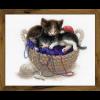 """Набор для вышивания """"Котята в корзине"""" """"Риолис"""""""