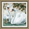 """Набор для вышивания """"Белые лебеди"""" """"Риолис"""""""