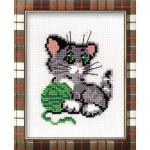 """Набор для вышивания """"Котёнок с клубком"""" """"Риолис"""""""