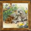 """Набор для вышивания """"Ягненок и кролик"""" """"Риолис"""""""
