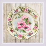 """Набор для вышивания """"Тарелка с розовыми маками. Гладь"""" """"Риолис"""""""