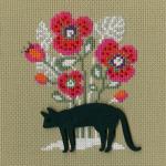 """Набор для вышивания CBE9004 """"Кошка"""" """"RTO"""""""