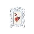 """Набор для вышивания с декоративной рамкой """"Курочка с бабочкой"""" """"RTO"""""""