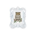 """Набор для вышивания с декоративной рамкой """"Сова"""" """"RTO"""""""