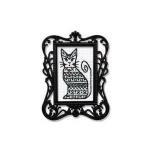 """Набор для вышивания с декоративной рамкой """"Ажурный кот"""" """"RTO"""""""