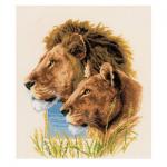 """Набор для вышивания """"Пара львов"""" """"Vervaco"""""""