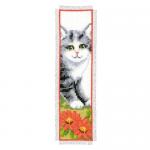 """Набор для вышивания Закладка """"Серый котенок"""" """"Vervaco"""""""