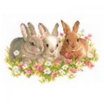 """Набор для вышивания """"Три кролика"""" """"Vervaco"""""""