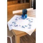 """Набор для вышивания Скатерть """"Голубые бабочки"""" 80х80см """"Vervaco"""""""