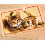 """Набор для вышивания Коврик """"Игривые котята"""" 70х45см """"Vervaco"""""""