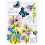 """Набор для вышивания """"Колокольчики и бабочки"""" """"Vervaco"""""""