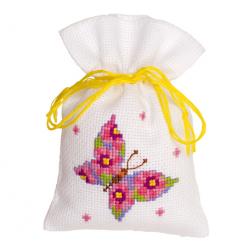 """Набор для вышивания Мешочек-саше """"Розовая бабочка"""""""