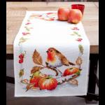 """Набор для вышивания Дорожка """"Робин с яблоками"""" 40х100см """"Vervaco"""""""