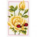 """Набор для вышивания """"Желтые розы"""" """"Vervaco"""""""