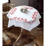 """Набор для вышивания Скатерть """"Красные северные олени"""" 80х80см """"Vervaco"""""""