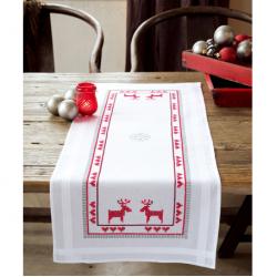 """Набор для вышивания Дорожка """"Красные северные олени"""" 40х100см """"Vervaco"""""""