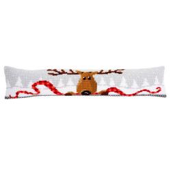 """Набор для вышивания Подушка от сквозняка """"Новогодний олень"""" 80х20см"""