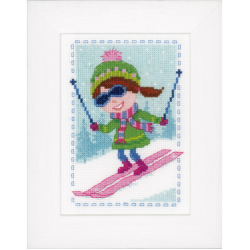 """Набор для вышивания """"Лыжница"""""""