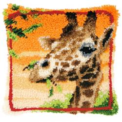 """Набор для вышивания Подушка """"Жираф"""" 40х40см"""