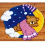 """Набор для вышивания Коврик """"Мишка на луне в розовом"""" 67х61см """"Vervaco"""""""