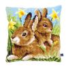 """Набор для вышивания Подушка """"Кролики в нарциссах"""" 40х40см """"Vervaco"""""""