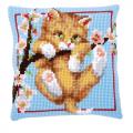 """Набор для вышивания Подушка """"Котёнок на ветке"""" 40х40см """"Vervaco"""""""
