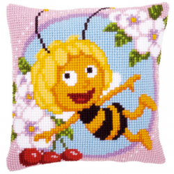 """Набор для вышивания Подушка """"Пчелка Майя"""" 40х40см """"Vervaco"""""""