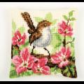 """Набор для вышивания Подушка """"Птица в розовых цветах"""" 40х40см """"Vervaco"""""""
