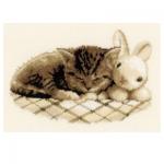 """Набор для вышивания """"Котенок и кролик"""" """"Vervaco"""""""
